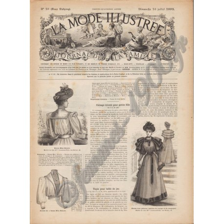 журнал мода La Mode Illustrée 1893 N°29