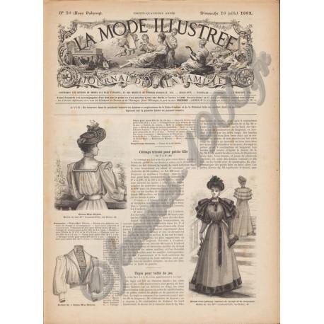 Complete magazine La Mode Illustrée 1893 N°29
