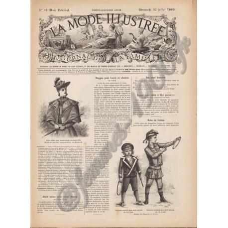 журнал мода La Mode Illustrée 1893 N°31