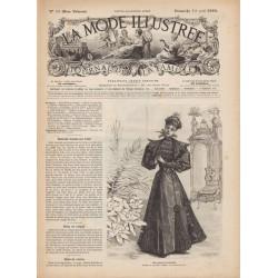журнал мода La Mode Illustrée 1893 N°33