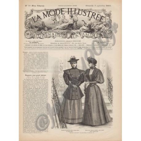журнал мода La Mode Illustrée 1893 N°36