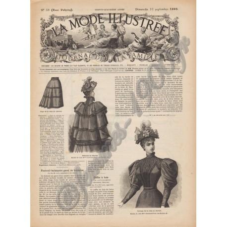 Complete magazine La Mode Illustrée 1893 N°38