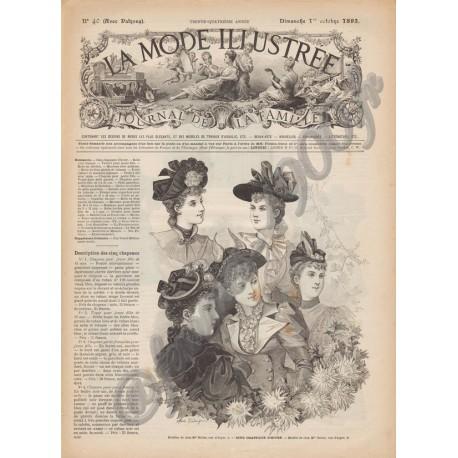 журнал мода La Mode Illustrée 1893 N°40