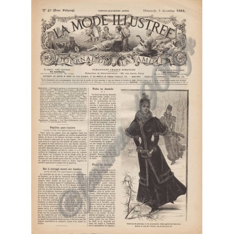 Complete magazine La Mode Illustrée 1893 N°49