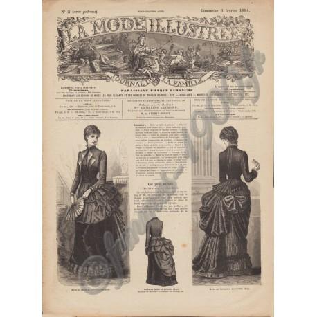 Complete magazine La Mode Illustrée 1884 N°5