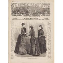журнал мода La Mode Illustrée 1884 N°10