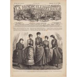 журнал мода La Mode Illustrée 1884 N°15