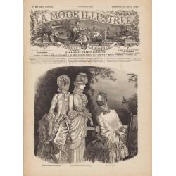 Complete magazine La Mode Illustrée 1884 N°29