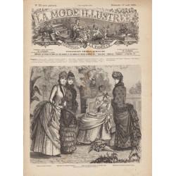 журнал мода La Mode Illustrée 1884 N°33