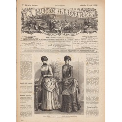 журнал мода La Mode Illustrée 1884 N°35