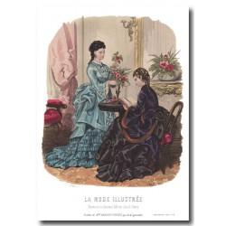 Gravure La Mode Illustrée 1873 6