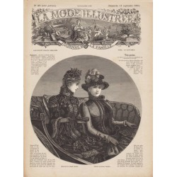 журнал мода La Mode Illustrée 1884 N°37