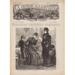 журнал мода La Mode Illustrée 1884 N°42