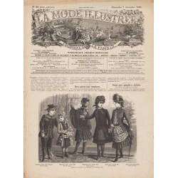 журнал мода La Mode Illustrée 1884 N°49