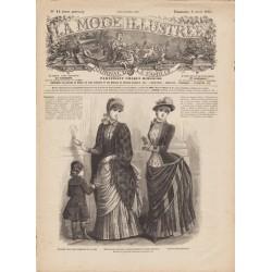 журнал мода La Mode Illustrée 1884 N°14