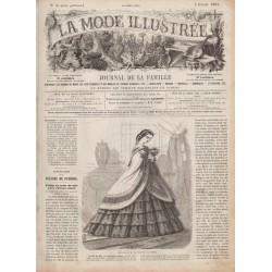 Complete magazine La Mode Illustrée 1861 N°06