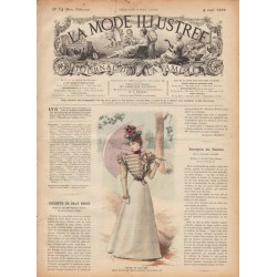 журнал мода La Mode Illustrée 1897 N°14