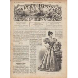 журнал мода La Mode Illustrée 1897 N°01