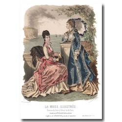 Gravure La Mode Illustrée 1876 30