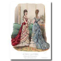 Gravure La Mode Illustrée 1876 45