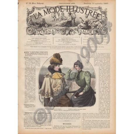 Complete magazine La Mode Illustrée 1897 N°38
