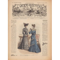 журнал мода La Mode Illustrée 1902 N°02