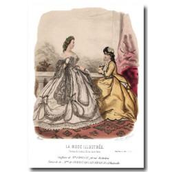 Gravure La Mode Illustrée 1864 32