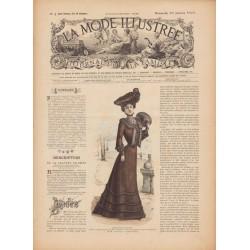 журнал мода La Mode Illustrée 1902 N°04