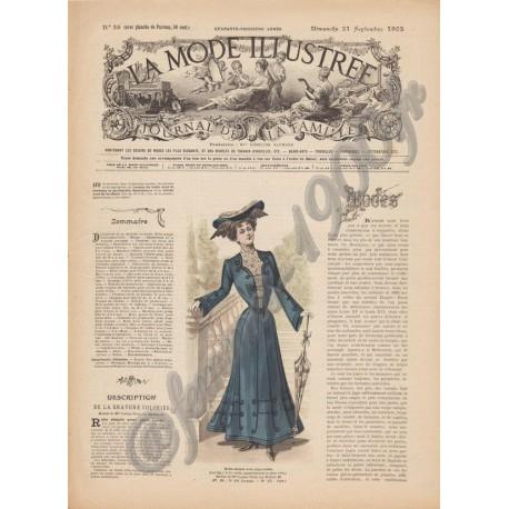 Complete magazine La Mode Illustrée 1902 N°38