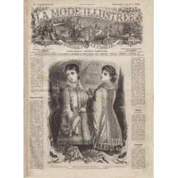 журнал мода La Mode Illustrée 1880 01
