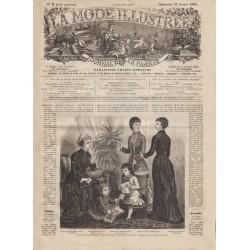 журнал мода La Mode Illustrée 1880 N°08