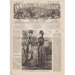 журнал мода La Mode Illustrée 1880 N°16