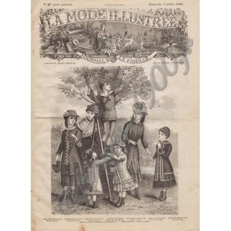 Complete magazine La Mode Illustrée 1880 N°27