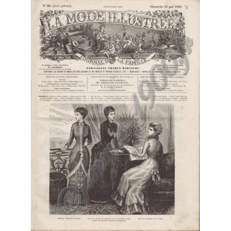 Complete magazine La Mode Illustrée 1880 N°21