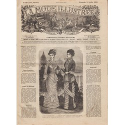 Complete magazine La Mode Illustrée 1880 N°29