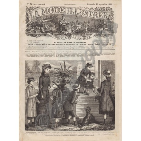 Complete magazine La Mode Illustrée 1880 N°38