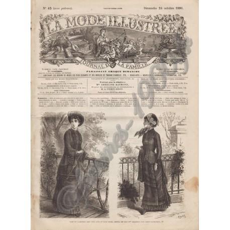 Complete magazine La Mode Illustrée 1880 N°43