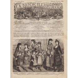 журнал мода La Mode Illustrée 1880 N°03