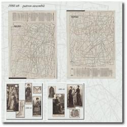 vykrojku La Mode Illustrée 1880 N°08