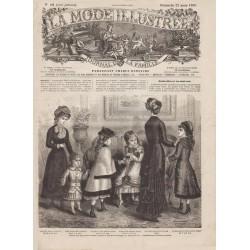 журнал мода La Mode Illustrée 1880 N°12
