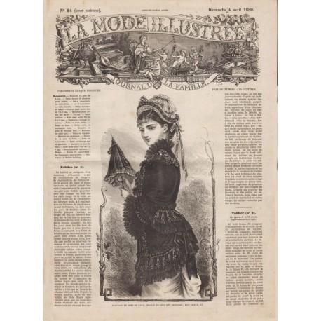 Complete magazine La Mode Illustrée 1880 N°14