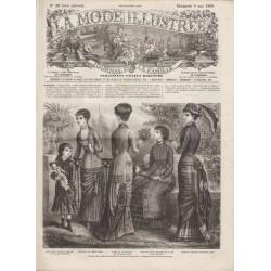 журнал мода La Mode Illustrée 1880 N°19