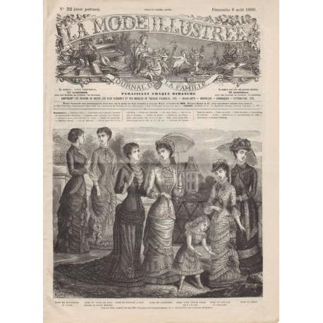 Complete magazine La Mode Illustrée 1880 N°32