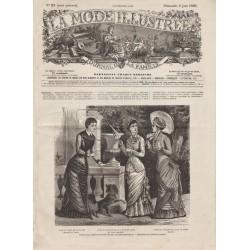 Revue complète de La Mode Illustrée 1880 N°23