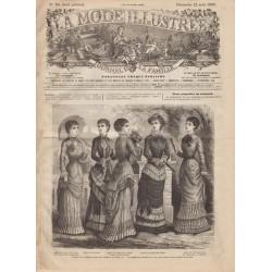 Complete magazine La Mode Illustrée 1880 N°34