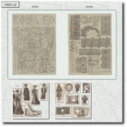 vykrojku La Mode Illustrée 1905 N°3