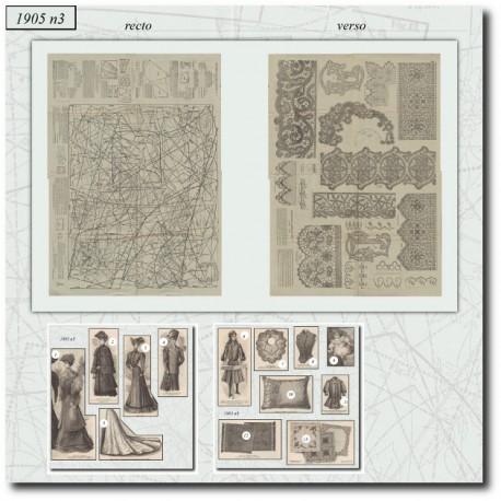 Patrons de La Mode Illustrée 1905 N°3