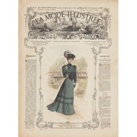 Complete magazine La Mode Illustrée 1905 N°38