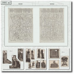 Patrons de La Mode Illustrée 1881 N°01