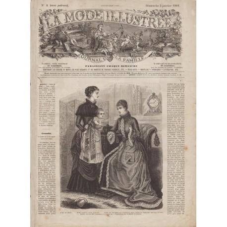 Complete magazine La Mode Illustrée 1881 N°01